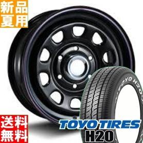 トーヨータイヤ TOYOTIRES H20 195/80R15 107/105 15インチ サマー タイヤ ホイール 4本 セット 夏用 MLJ DAYTONA SS 15×6.0J+45 6/139.7