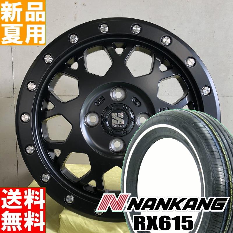 【3月25日限定】ポイント最大33倍 ナンカン NANKANG RX615 ホワイトリボン 155/65R14 14インチ サマー タイヤ ホイール 4本 セット 夏用 XTREME-J XJ04 14×4.5J+45 4/100