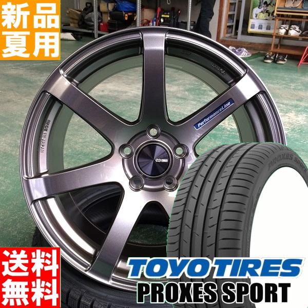 PROXES SPORT 205/45R17 TOYOTIRES/トーヨータイヤ 夏用 新品 17インチ スポーツ系 ラジアル タイヤ ホイール 4本 セット ENKEI PerformanceLine PF07 17×7.0J+48 5/100