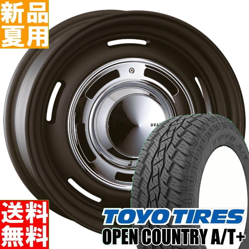 トーヨー TOYO オープンカントリー A/T+ OPENCOUNTRY 215/70R16 サマータイヤ ホイール 4本 セット 16インチ オフロード仕様 DEAN CROSS COUNTRY 16×6.0J-5 5/139.7 夏用 新品