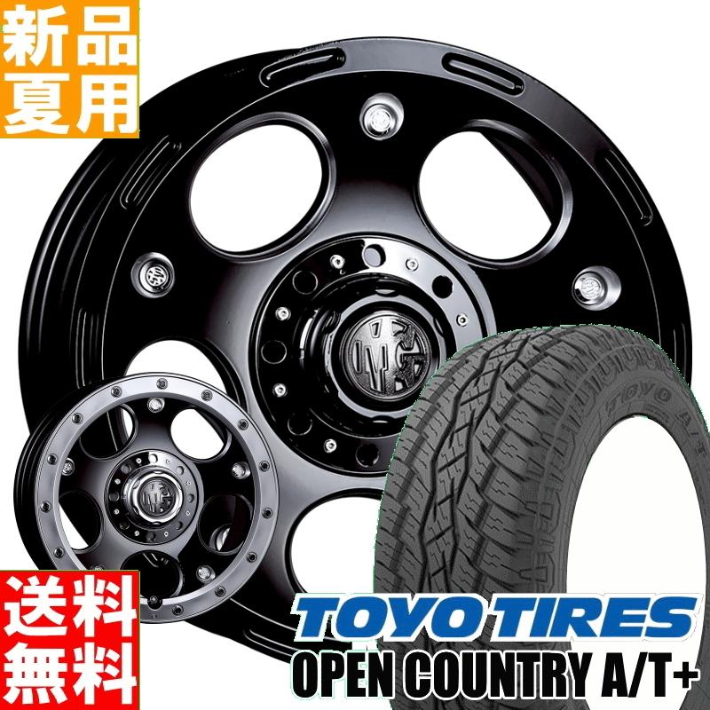 トーヨータイヤ TOYOTIRES オープンカントリー A/T+ OPENCOUNTRY 215/70R16 サマータイヤ ホイール 4本 セット 16インチ オフロード仕様 MG DEMON 16×7.0J+38 5/114.3 夏用 新品