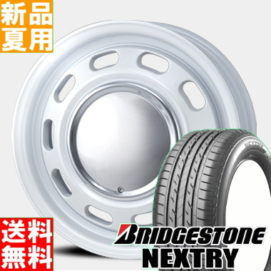 ブリヂストン BRIDGESTONE ネクストリー NEXTRY 165/50R15 サマータイヤ ホイール 4本 セット 15インチ LUGTEC NEOMOON 15×5.0J+45 4/100 夏用 新品