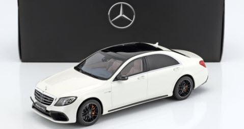 Mercedes benz特注 1/18 メルセデスベンツ AMG S63 Mopf lang (ダイヤモンドホワイト)