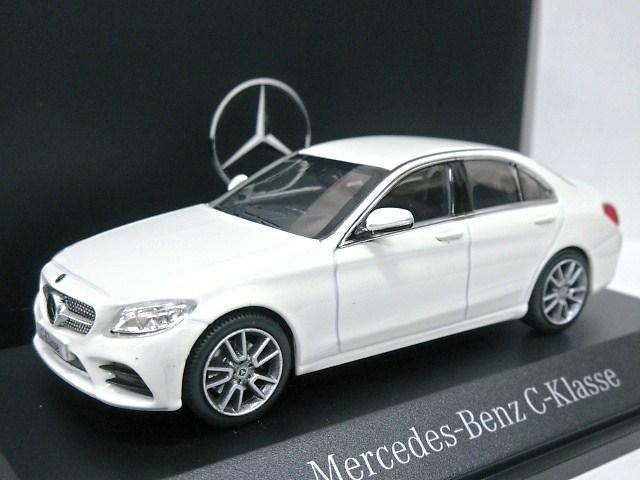 Mercedes Benz 特注 1/43 メルセデスベンツ Cクラス AMG Line (ホワイト) 2018 W205
