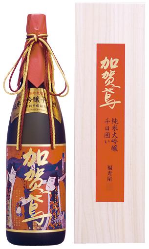 日本酒 純米大吟醸 加賀鳶千日囲い錦絵ラベル 1800ml