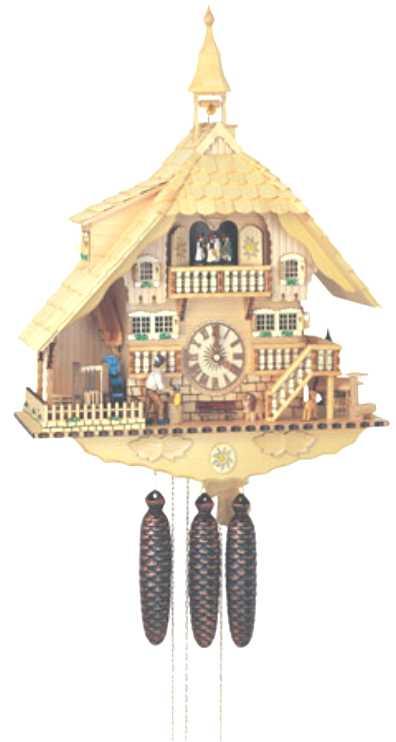 アルトン・シュナイダー製カッコー時計(はと時計)8TMT 1071/0 8日巻 モデル カッコー時計 鳩時計 ハト時計 掛け時計