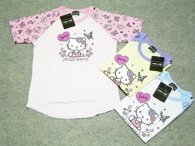 ! Sanrio Hello Kitty キャラクターレディス T shirts discount! Kitty t-shirt Sanrio T shirt rming T