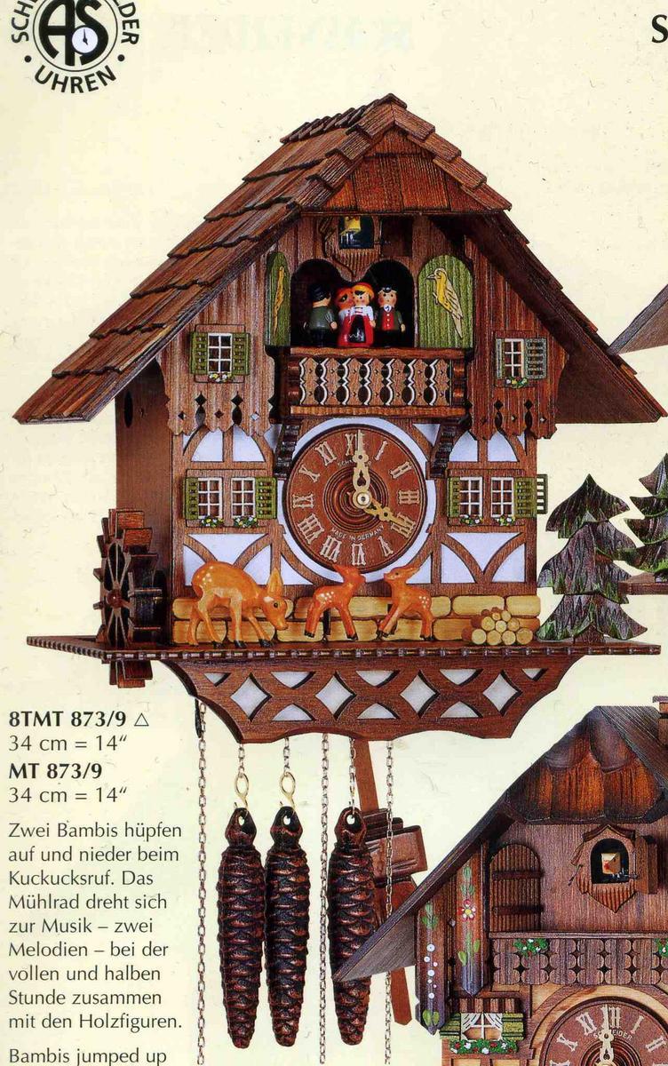NEW!アルトン・シュナイダー製カッコー時計(はと時計)8TMT 673/9 8日巻モデル カッコー時計 鳩時計 ハト時計 掛け時計