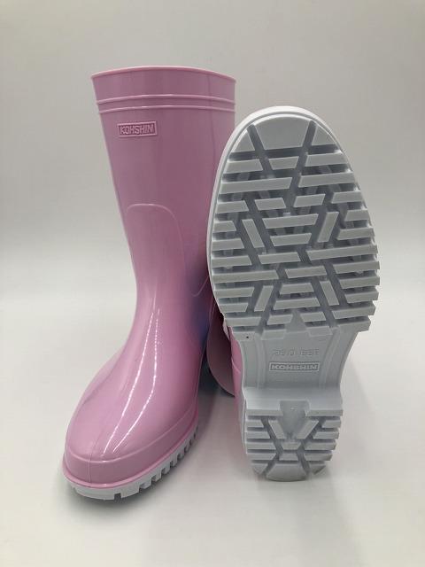 耐油長靴の定番品 グリップ底でカップインソール付 安心の日本製 海外限定 ゾナG5耐油長靴 ピンク グリップ底中敷き付き 日本製 信憑
