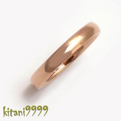 K18ピンクゴールド New甲丸リング単品 ( K18PG ) ネーム彫り無料 『艶消し可能・ネーム彫り無料』