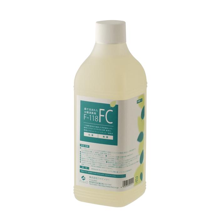 【F-118消臭液 FC(1Lボトル)】植物性消臭液環境や身体に優しい安心安全な消臭剤(ペットの臭い対策にも効果的)同梱不可。別送になります。
