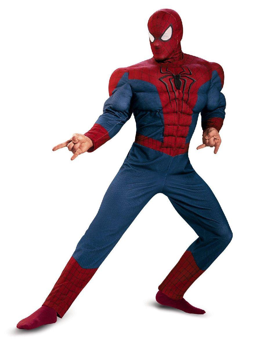 パーティー各種イベントに 数量限定アウトレット最安価格 コスプレ衣装 オリジナル 仮装にライセンス商品 スパイダーマン Movie2 マッスル コスプレ アダルト
