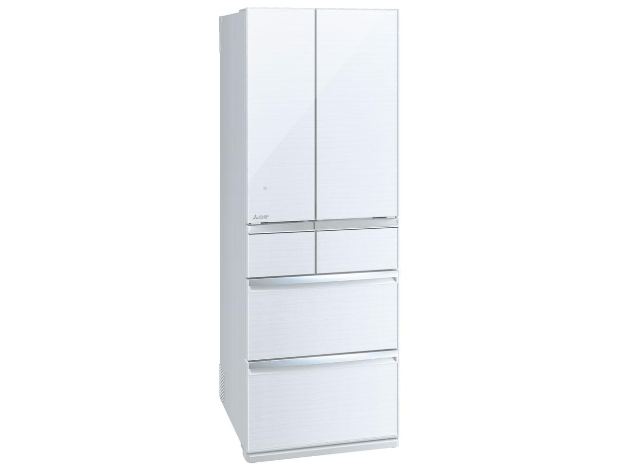 三菱 MITSUBISHI MR-WX52E-W 冷蔵庫 6ドア 517L ガラスドア クリスタルホワイト 【設置込み】【 関東送料無料】 ファミリー カップル 新婚【人気】【売れ筋】