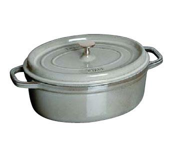 Staub/ストウブ ピコ ココット 楕円 37cm(1103718)<グレー>( キッチンブランチ )