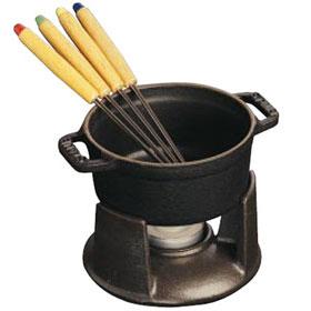 Staub/ストウブ ミニ・チョコレートフォンデュセット(1400423)<ブラック>( キッチンブランチ )