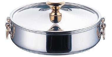 ニュー電磁 ちりしゃぶ鍋(18クロームモリブデン鋼) 24cm ( キッチンブランチ )