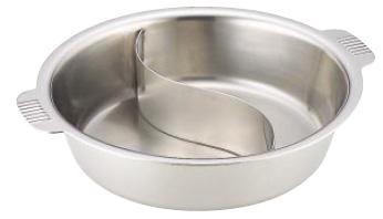SW 電磁用 ちり鍋 2仕切 33cm ( キッチンブランチ )