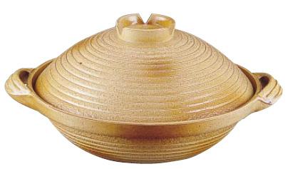 アルミ 電磁用 手造り土鍋 楽鍋(新幸楽) 30cm ( キッチンブランチ )