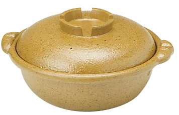 アルミ合金 黄瀬戸 土鍋風鍋 27cm ( キッチンブランチ )