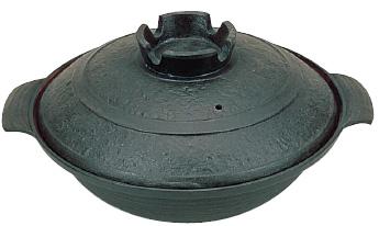 五進 鉄 寄せ鍋(内面茶ホーロー仕上) 30cm ( キッチンブランチ )