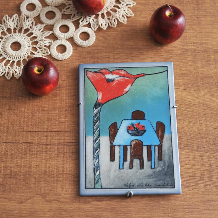 【 アンティーク 】 アラビア ヘルヤ・リウッコ・スンドストロム 陶板 《 ビンテージ vintage ヴィンテージ 》 【 Arabia Helja Liukko-Sundstrom 】( キッチンブランチ )