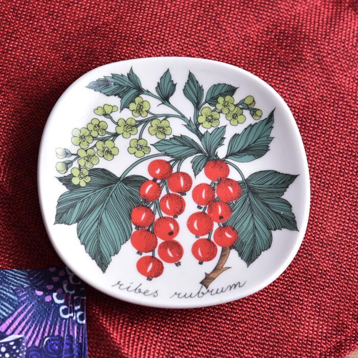 【 アンティーク 】 アラビア ボタニカ ウォールプレート レッドカラント 《 ビンテージ vintage ヴィンテージ 》 【 Arabia Botanica 】( キッチンブランチ )