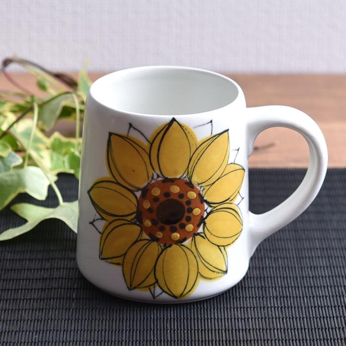 【正規品】 アンティーク Arabia Arabia アラビア HLA HLA Sunflower ヒマワリ マグ ビンテージ ヴィンテージ vintage ヴィンテージ キッチンブランチ, 安全サイン8:41b65cee --- clftranspo.dominiotemporario.com