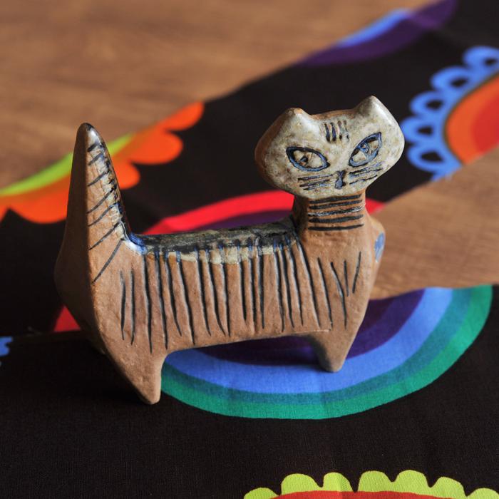 【 アンティーク 】 リサ・ラーソン 小さな動物園 猫 スタンディングキャット 《 ビンテージ vintage ヴィンテージ 》 【 Gustavsberg グスタフスベリ Lisa Larson リサラーソン Lilla Zoo 】( キッチンブランチ )
