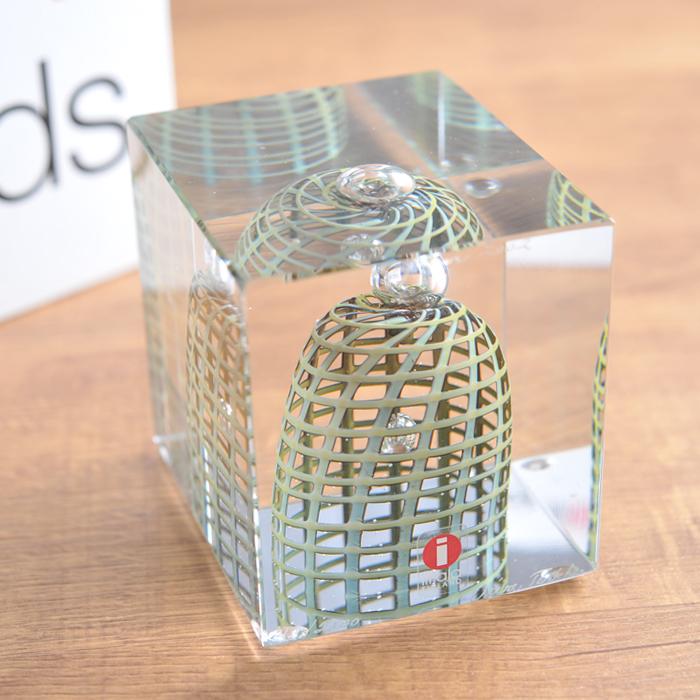 【 アンティーク 】 イッタラ ( ヌータヤルヴィ ) オイバ・トイッカ アニュアル キューブ 《 ビンテージ vintage ヴィンテージ 》 < 2002年 > 【 iittala Nuutajarvi Oiva Toikka Annual Cube 】( キッチンブランチ )