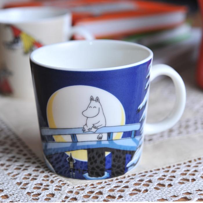 【 アンティーク 】 アラビア ムーミンマグ 2006年限定 ウィンターナイト 《 ビンテージ vintage ヴィンテージ 》 【 Arabia moomin 】( キッチンブランチ )