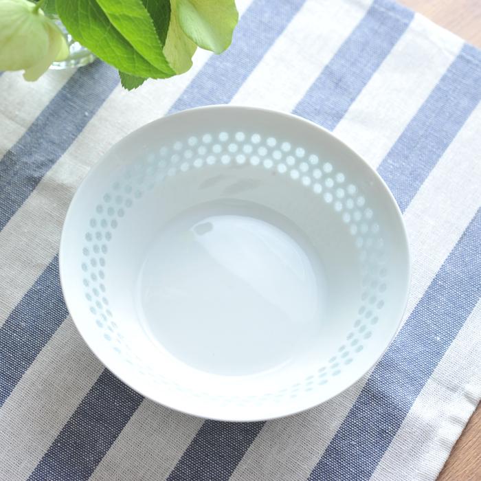 【 アンティーク 】 アラビア ライスポーセリン ボウル 15cm <ドット/3列> 《 ビンテージ vintage ヴィンテージ 》 【 Arabia Rice Porcelain 】( キッチンブランチ )