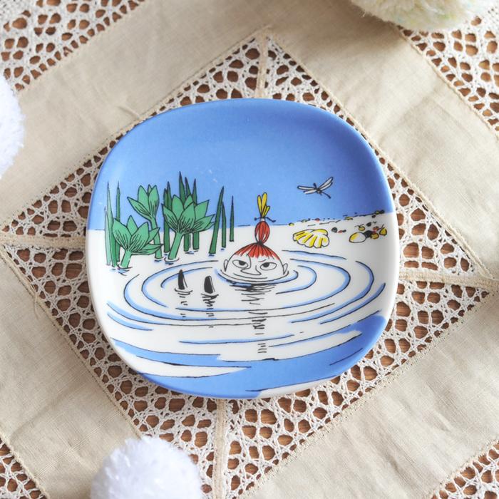 【 アンティーク 】 アラビア ムーミン ミニウォールプレート <泳ぐリトルミィ> 《 ビンテージ vintage ヴィンテージ 》 【 Arabia moomin 】( キッチンブランチ )