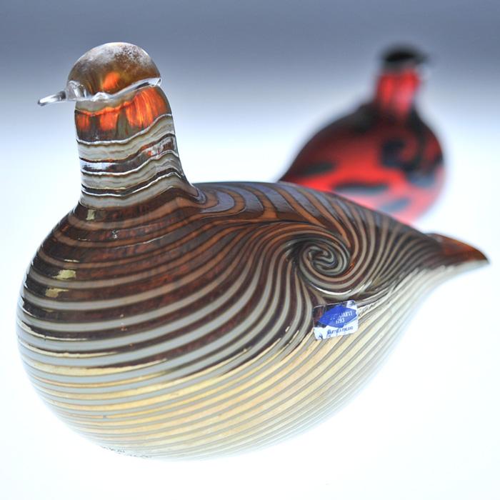 【アンティーク iittala イッタラ (Nuutajarvi ヌータヤルヴィ)】iittala/イッタラ (Nuutajarvi/ヌータヤルヴィ) Birds by Oiva Toikka バード バイ オイバ・トイッカ 《ビンテージ/vintage/ヴィンテージ》<Long Tailed Duck>( キッチンブランチ )