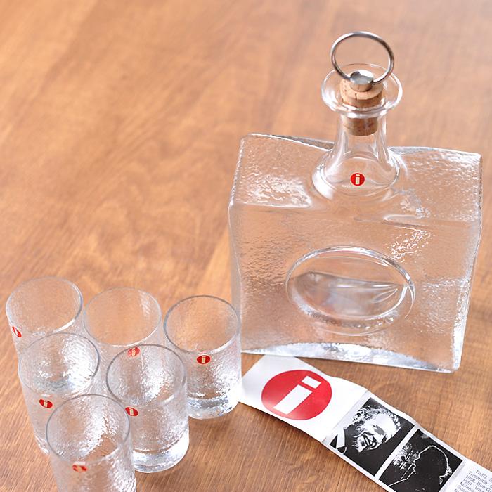 【アンティーク】 イッタラ タピオ・ヴィルカラ ボトル&ショットグラス 6個セット (箱入り) 《 ビンテージ vintage ヴィンテージ 》 【 iittala Tapio Wirkkala 】( キッチンブランチ )
