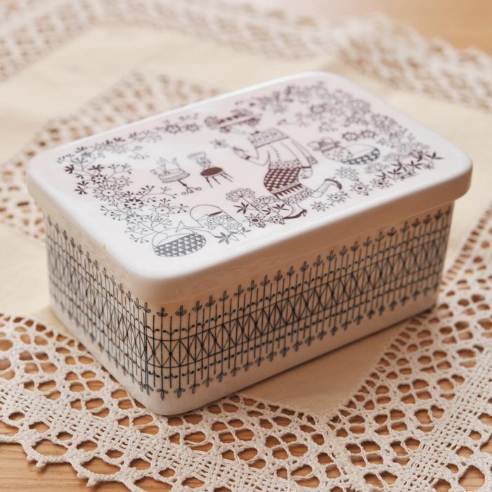 【 アンティーク 】 アラビア エミリア バターケース 《 ビンテージ vintage ヴィンテージ 》 【 Arabia Emilia キッチンブランチ 】