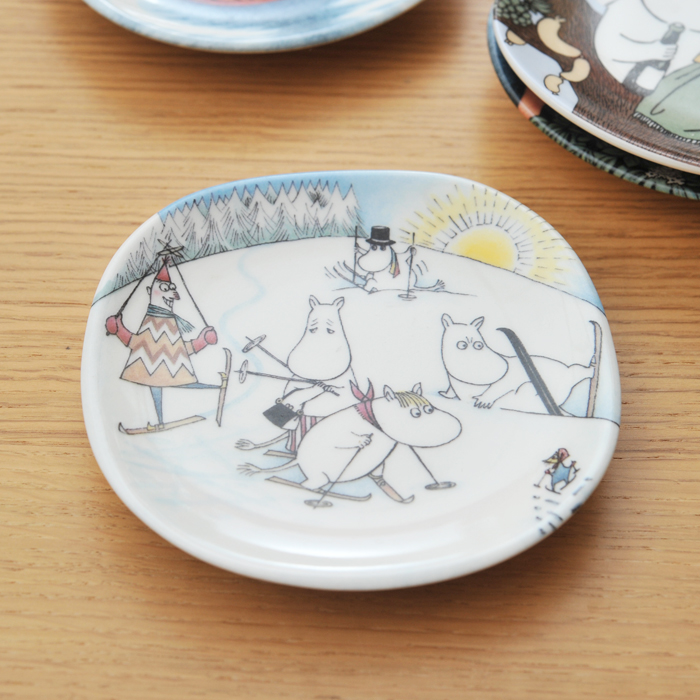 【 アンティーク 】 アラビア ムーミン ミニウォールプレート <Ski Slope> 《 ビンテージ vintage ヴィンテージ 》 【 Arabia moomin キッチンブランチ 】