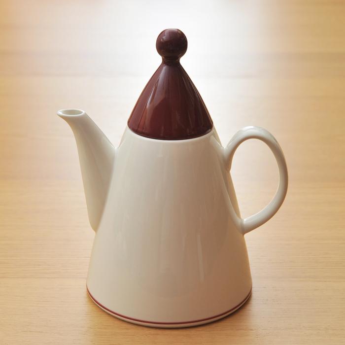 【 アンティーク 】 アラビア ハレキン 赤ライン コーヒーポット 《 ビンテージ vintage ヴィンテージ 》 【 Arabia Harlekin キッチンブランチ 】