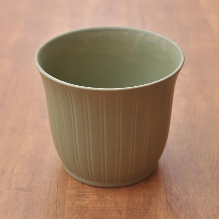 【 アンティーク 】 アラビア フラワーポット 植木鉢 グリーン 《 ビンテージ vintage ヴィンテージ 》 【 Arabia キッチンブランチ 】