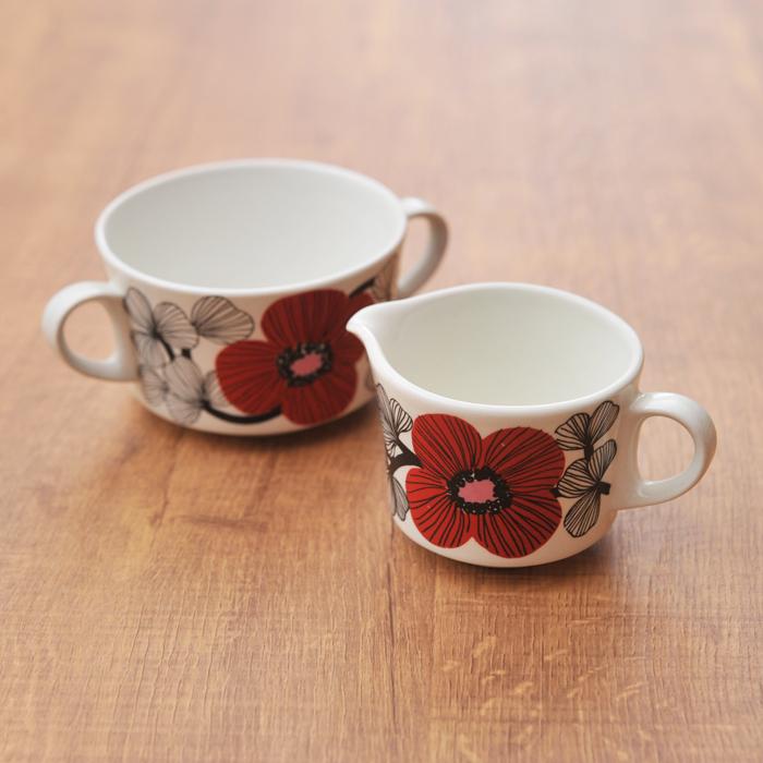 【 アンティーク 】 アラビア イソクッカ クリーマー&シュガーカップ 《 ビンテージ vintage ヴィンテージ 》 【 Arabia Isokukka キッチンブランチ 】