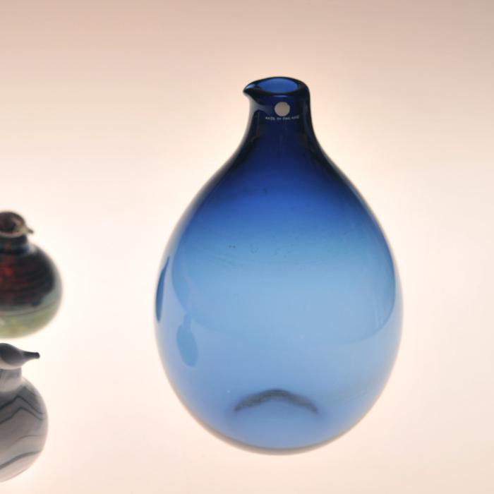 【 アンティーク 】 イッタラ i-401 ティモ・サルパネヴァ バードボトル ブルー 《 ビンテージ vintage ヴィンテージ 》 【 iittala Timo Sarpaneva Bird Bottle 】( キッチンブランチ )