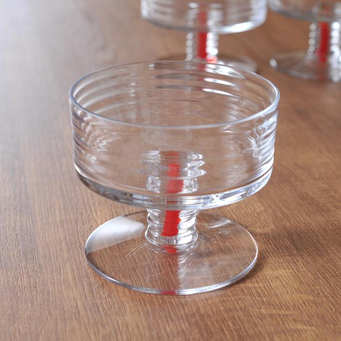 【 アンティーク 】 リーヒマエン・ラシ ナ二ー・スティル Perpetuum Mobile アイスクリームカップ 《 ビンテージ vintage ヴィンテージ 》 【 Riihimaen Lasi Nanny Still 】( キッチンブランチ )