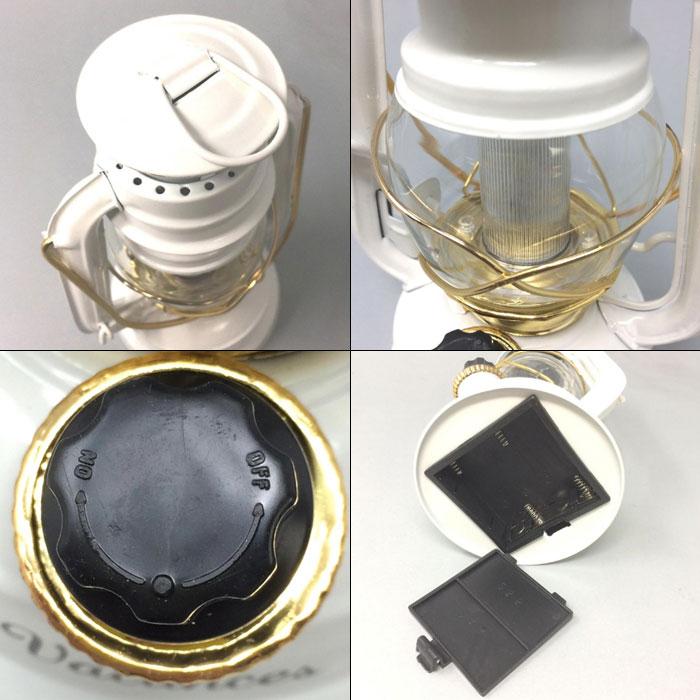 SPICE バカンス LEDランタン SFVL1510WH 《 スパイス ランタン ネイビー LED 電池式 エコ レトロ アウトドア グランピング 緊急時 ライト インテリア 》