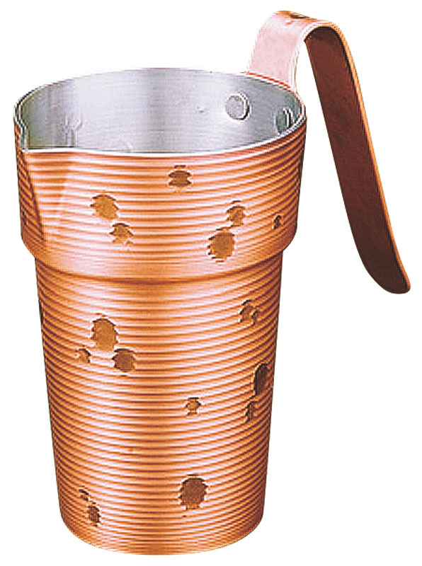 雪月花純銅チロリ(酒たんぽ)(錫被)一合CF-31-1SN