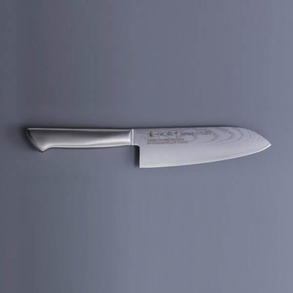 ダマスカス鋼 三徳包丁 800-631 佐竹産業 刃渡り170mm ナイフ 調理道具