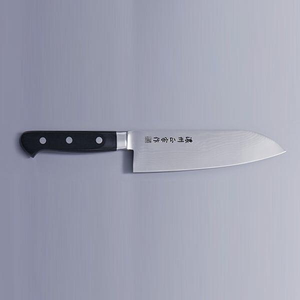 ダマスカス鋼 三徳包丁 DM001 佐竹産業 刃渡り170mm ナイフ 調理道具