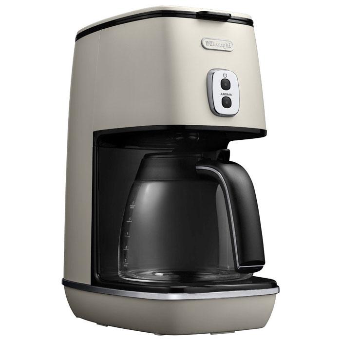 DeLonghi デロンギ ディスティンタコレクションドリップコーヒーメーカー (ピュアホワイト)( ICMI011J-W ) [ DeLonghi チタンコートフィルター コーヒーマシン ]