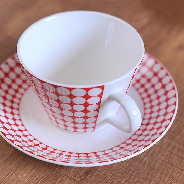 グスタフスベリ エヴァ コーヒーカップ&ソーサー 復刻版 《 Gustavsberg EVA カップ ソーサー 食器 洋食器 ブランド食器 北欧 おしゃれ お洒落 収納 シンプル 》 ( キッチンブランチ )