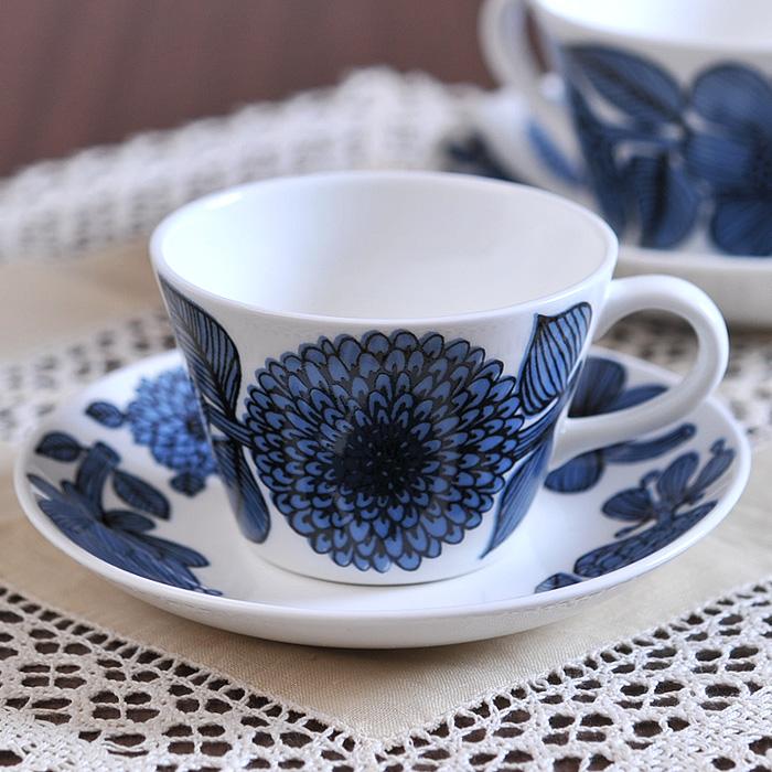 グスタフスベリ ブルーアスター コーヒーカップ&ソーサー 復刻版 《 Gustavsberg BLUE ASTER カップ ソーサー 食器 洋食器 ブランド食器 北欧 おしゃれ お洒落 収納 シンプル 》 ( キッチンブランチ )
