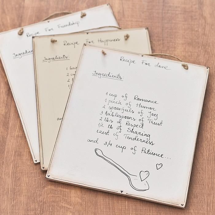 エストニア ハンドメイド レシピボード 選べる3デザイン 【 手作り オブジェ インテリア  】( キッチンブランチ )