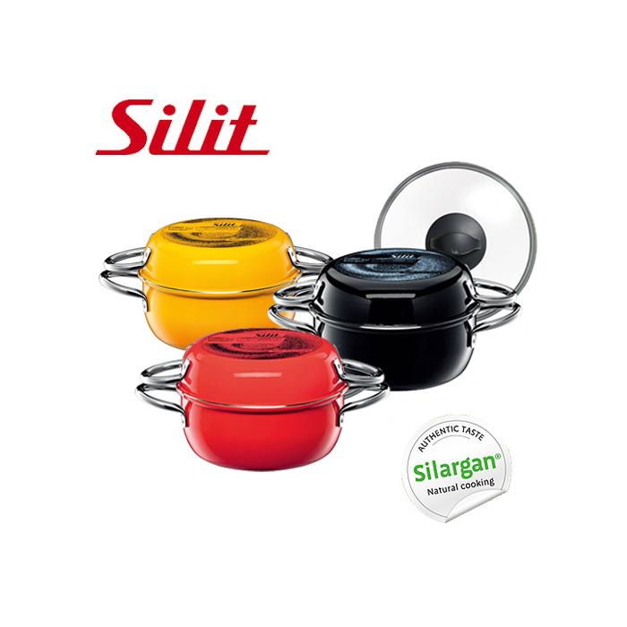 シリット シラルガン コンビクック 21cm ( ガラス蓋付き ) 選べる3色 《 Silit Silargan Combi cook IH対応 両手鍋 両手フライパン 浅型鍋 浅型フライパン ドイツ製 エナジーレッド クレイジーイエロー ブラック 》 ( キッチンブランチ )